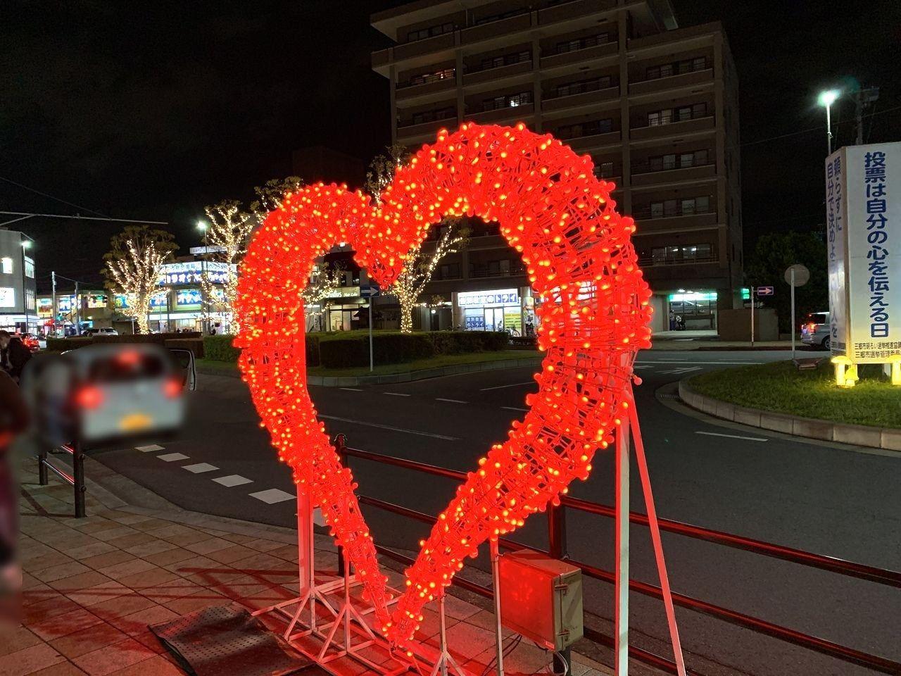三郷駅のイルミネーションが点灯しています!